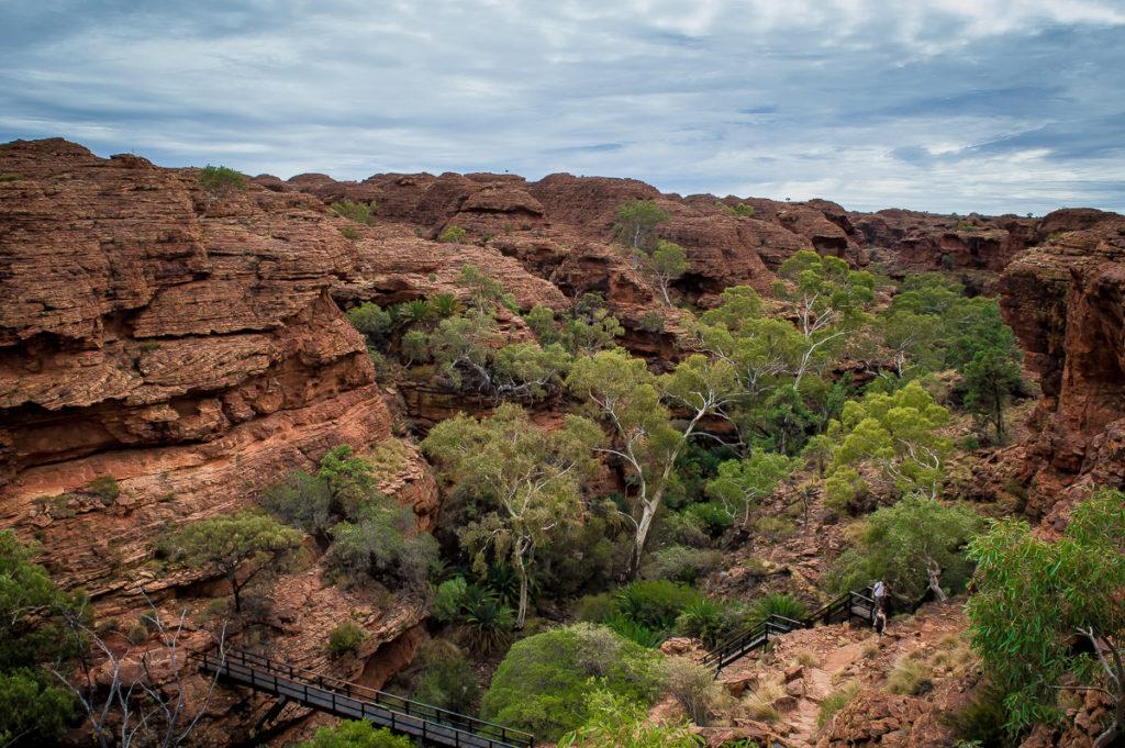 vue en haut de king's canyon dans le Centre rouge