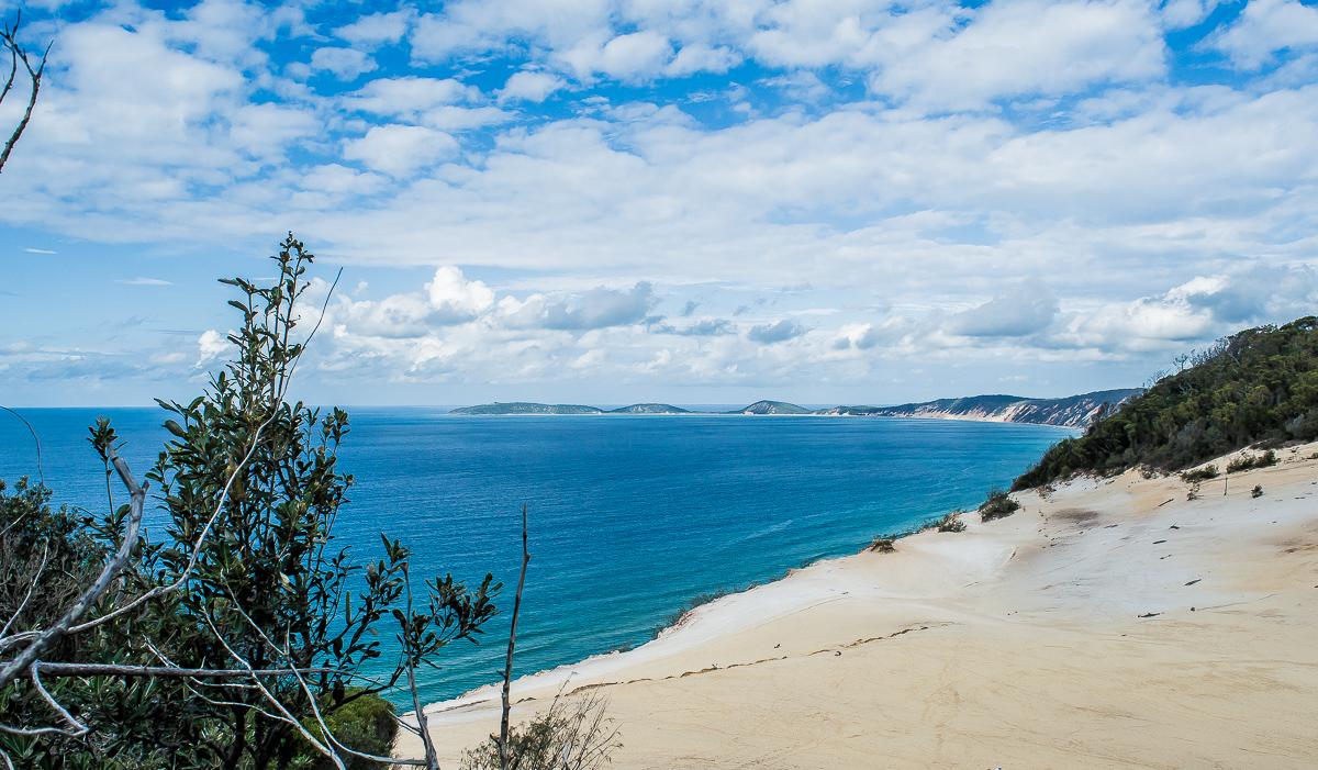 vue sur l'ocean depuis la dune carlo sandblow