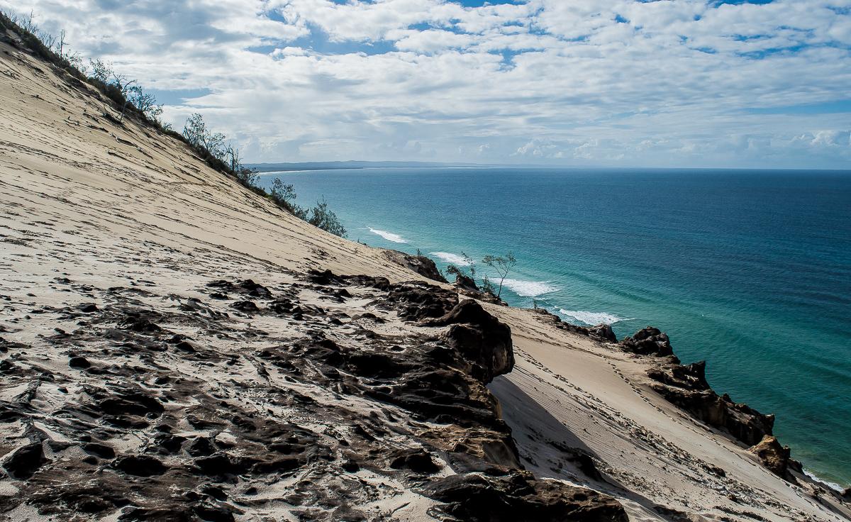 vue sur les falaises de la dune carlo sandblow