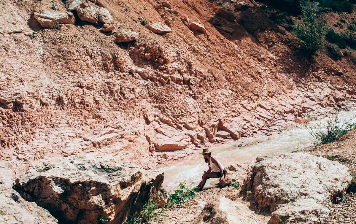 baignade à mossy cave