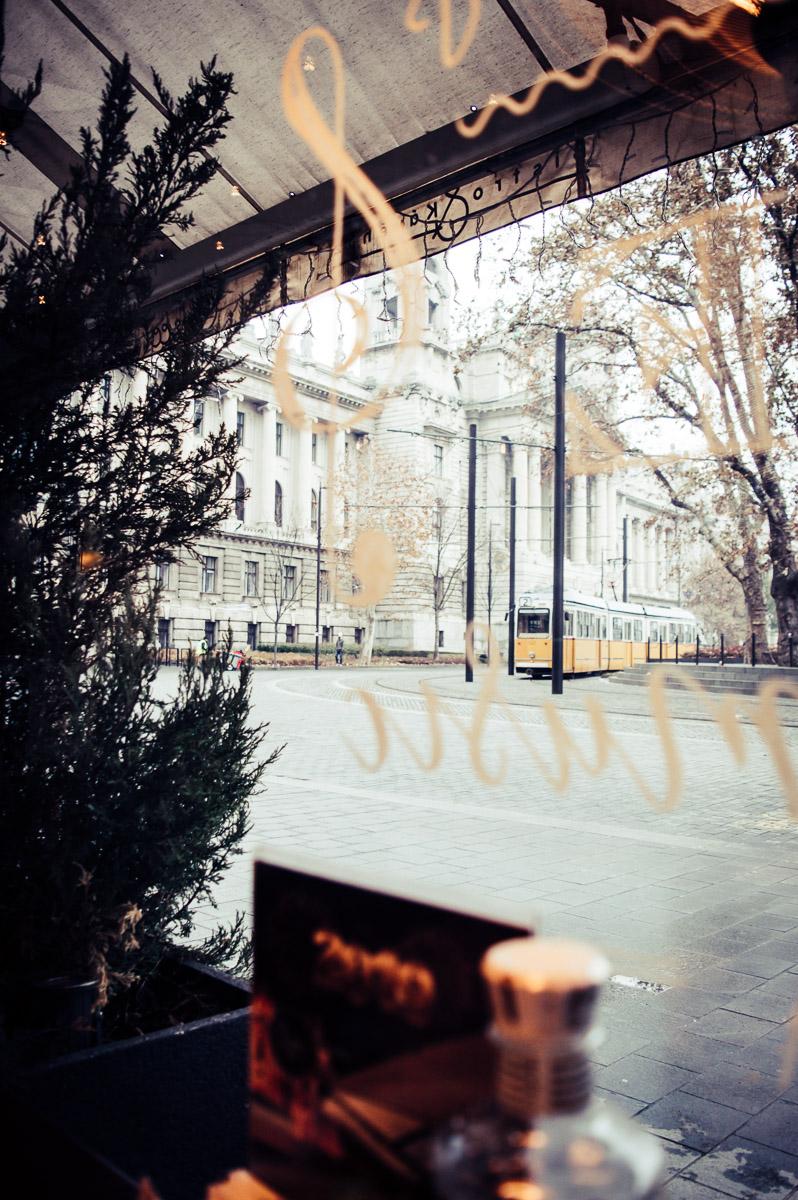regarder à travers la vitre à Budapest