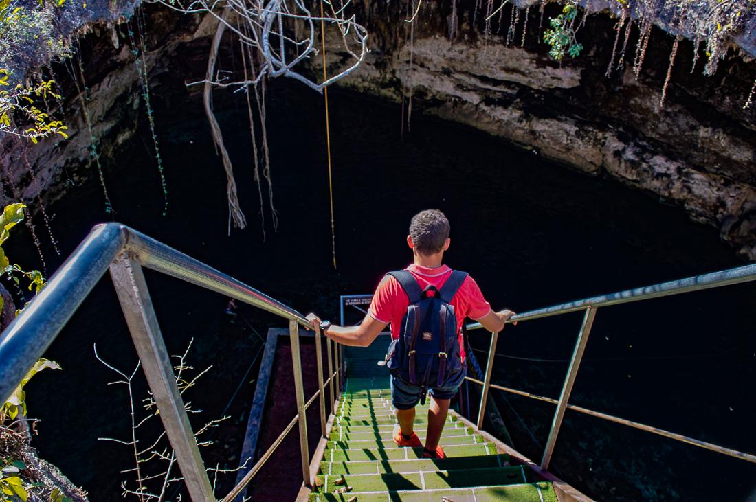 descendre au cenote d'homun