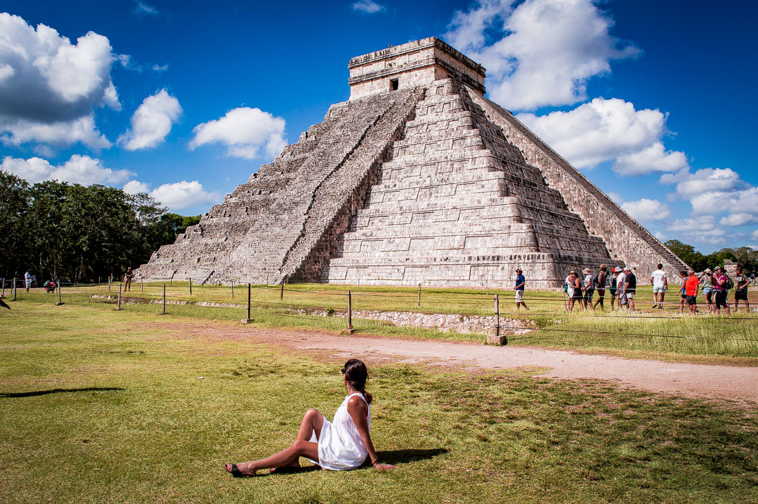 poser devant la pyramide kukulcan