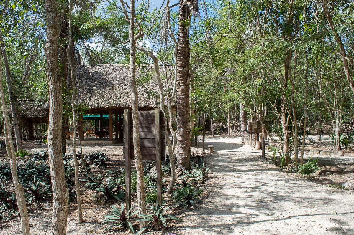 vestiaires du cenote x'canche