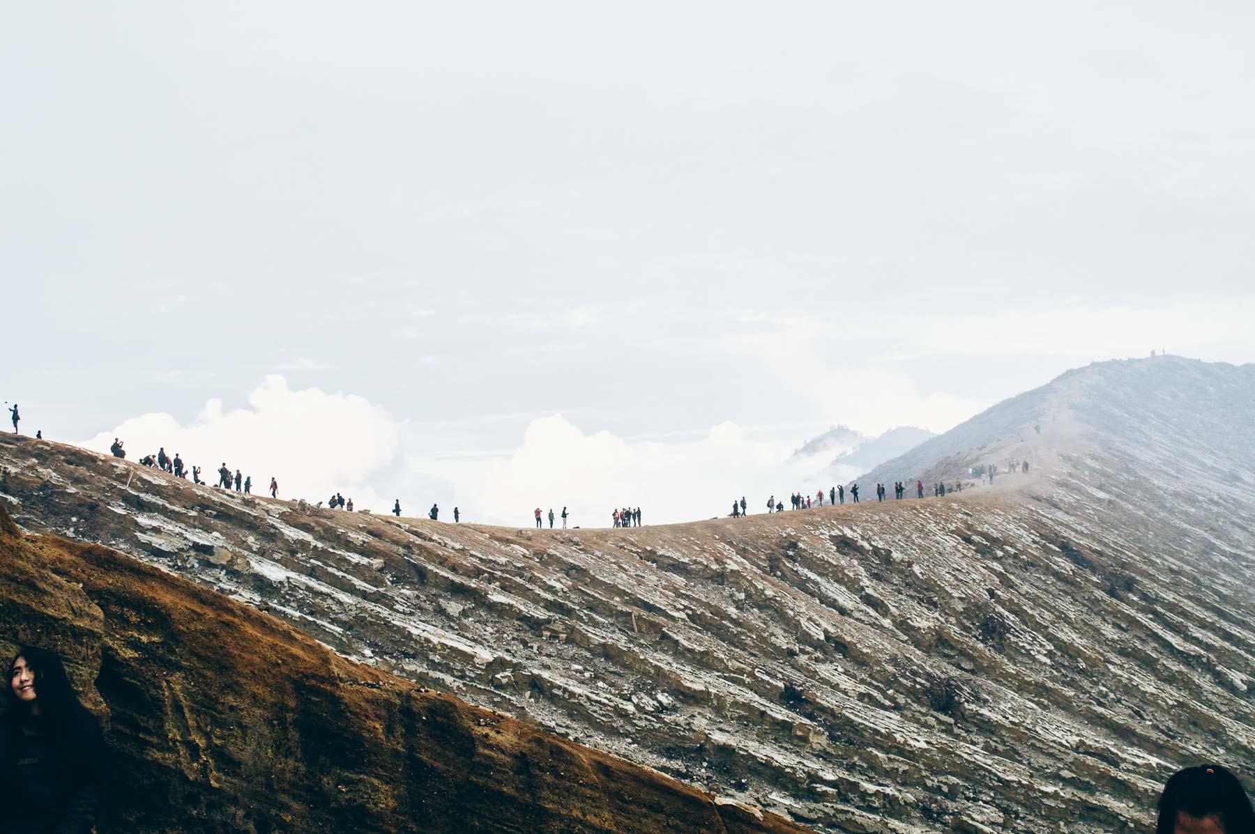cratère du volcan Ijen