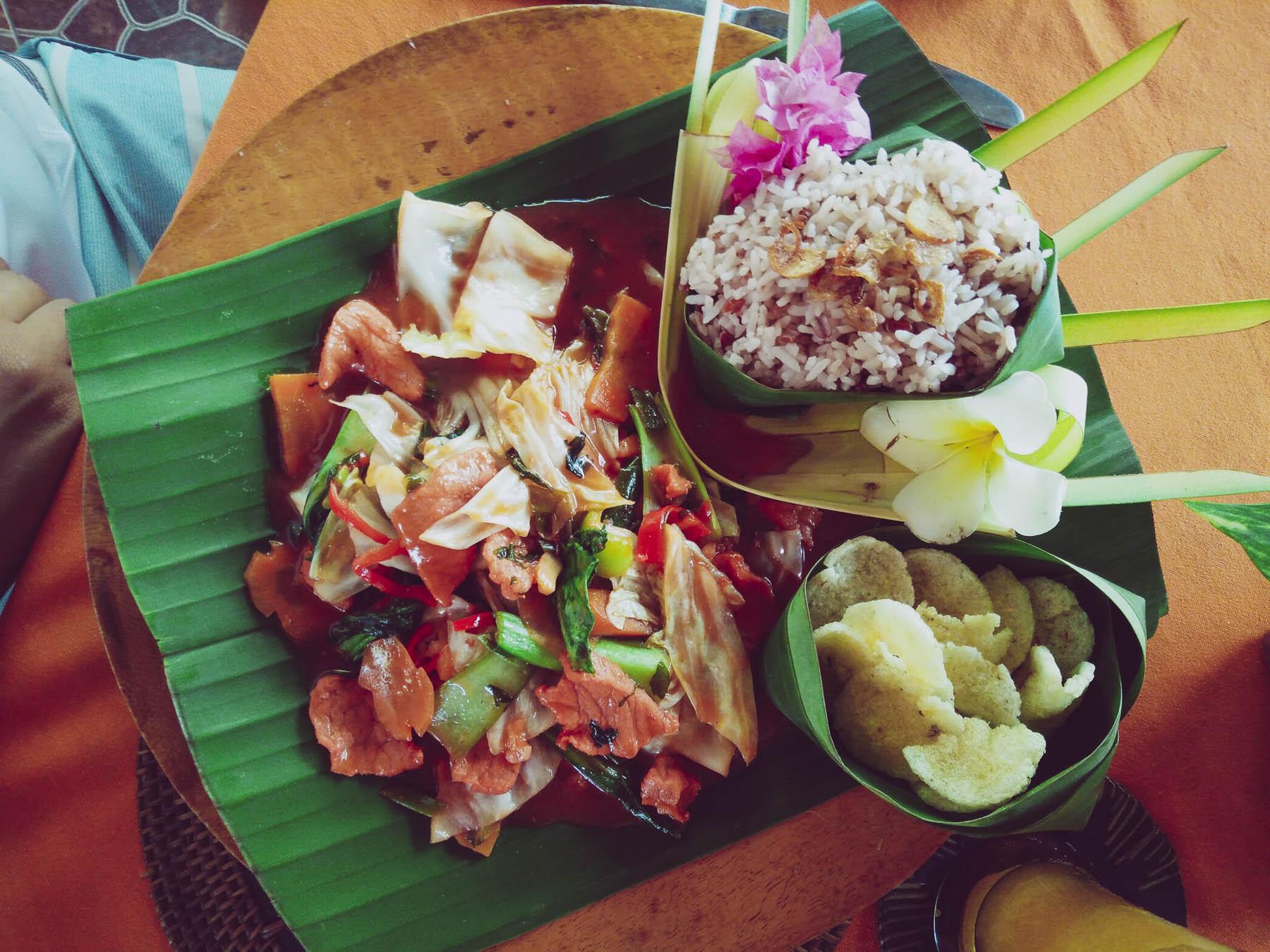 plats balinais à Pemuteran