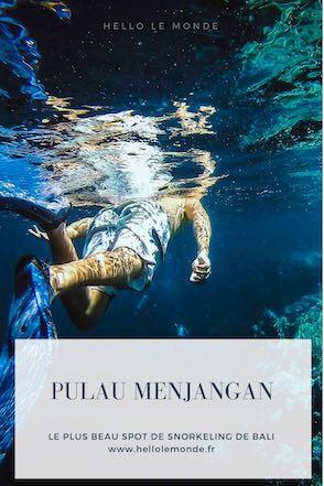 snorkeling à Menjangan épingle pinterest