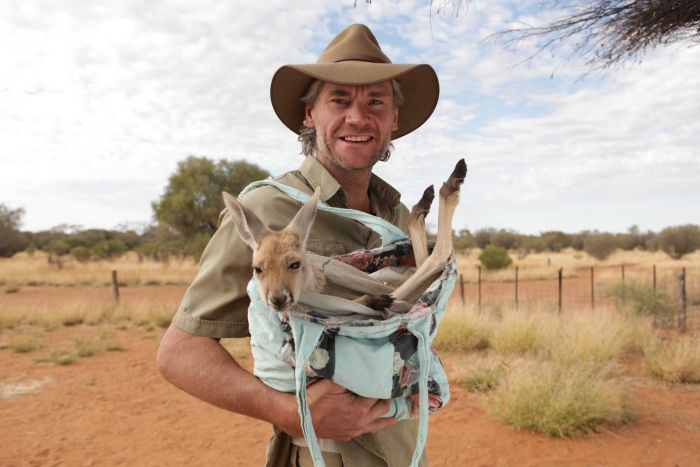 Chris brolga et les kangourous