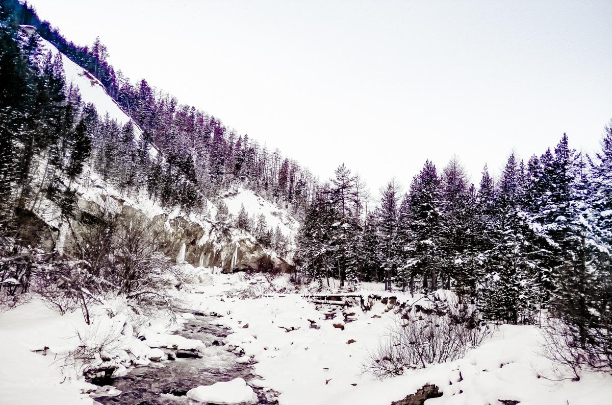 paysage de la vallée de la Clarée