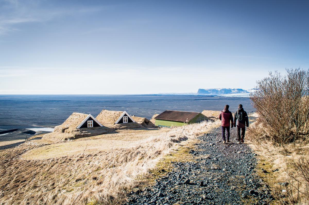 maisons en chaume du village de sel
