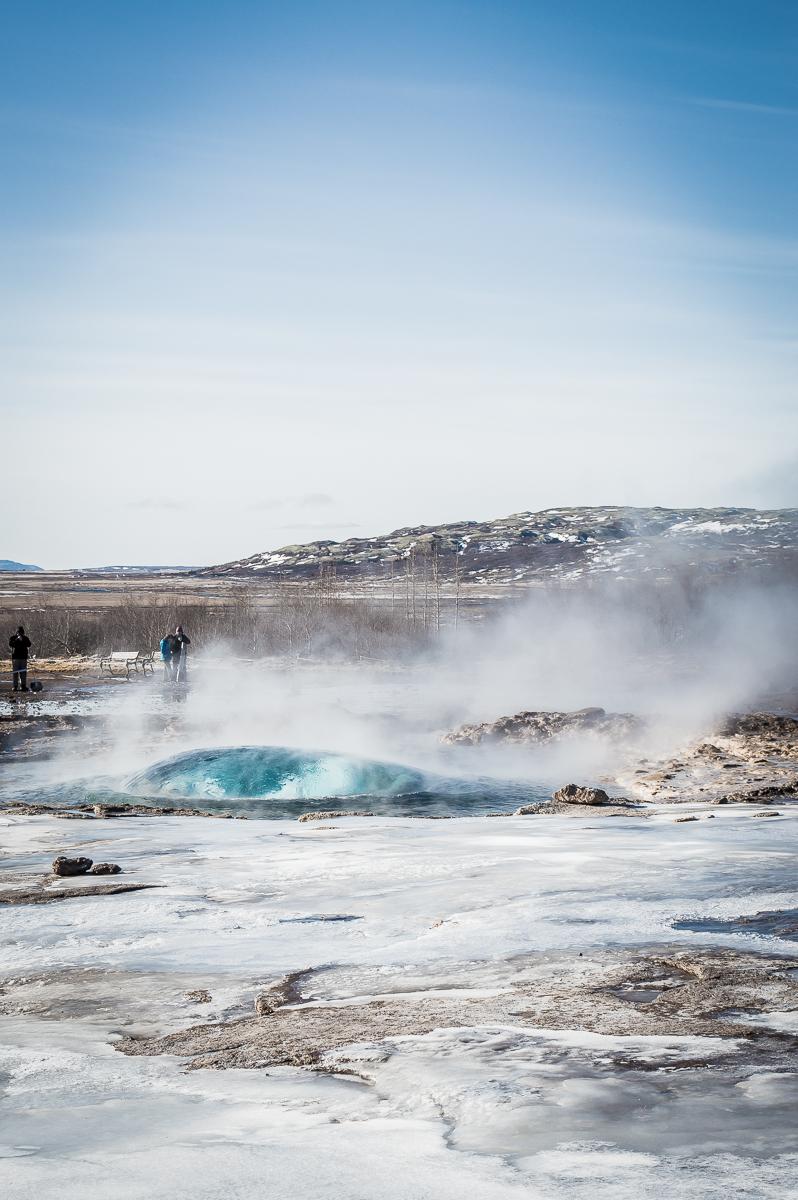 bulle d'eau geyser
