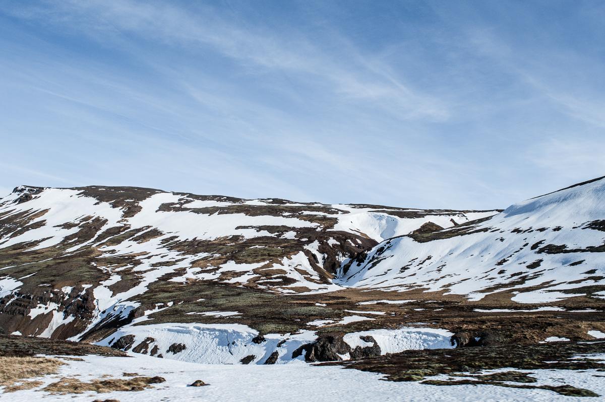 paysage glacé en islande