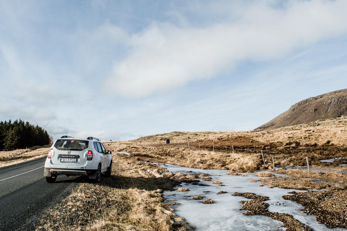 4X4 loué pour notre itinéraire de 4 jours en islande
