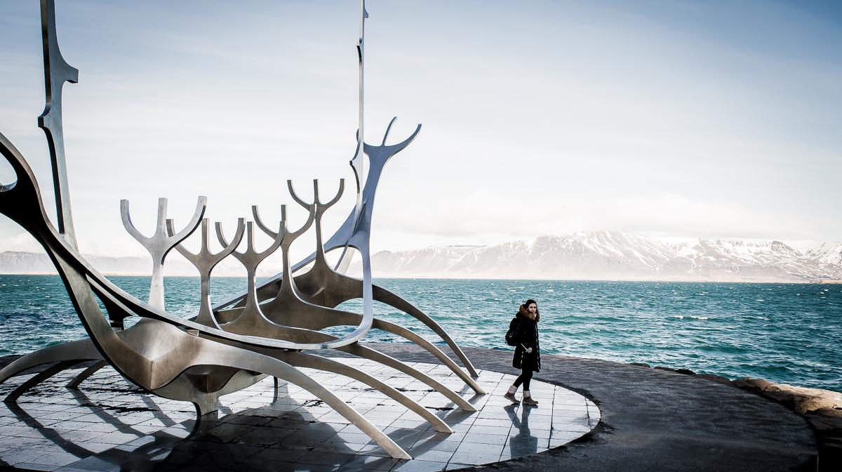 statue solfar à REYKJAVIK