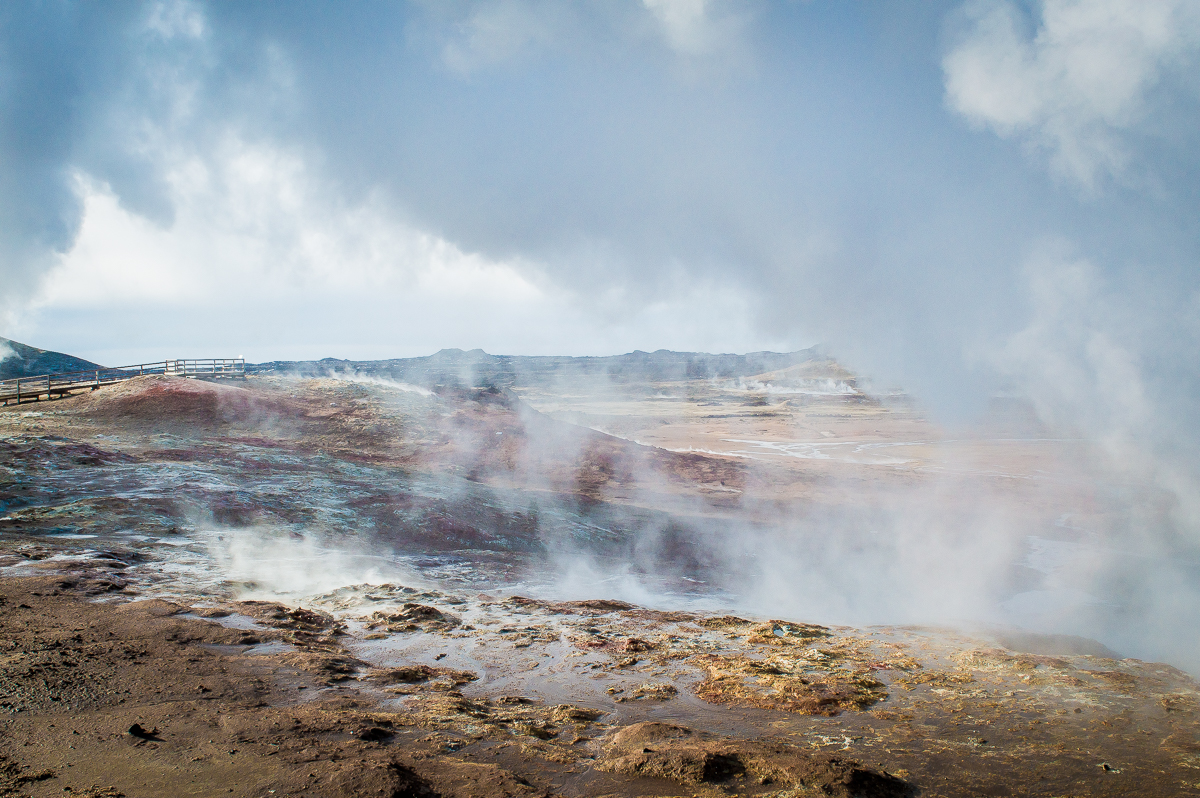 fumerolles en islande