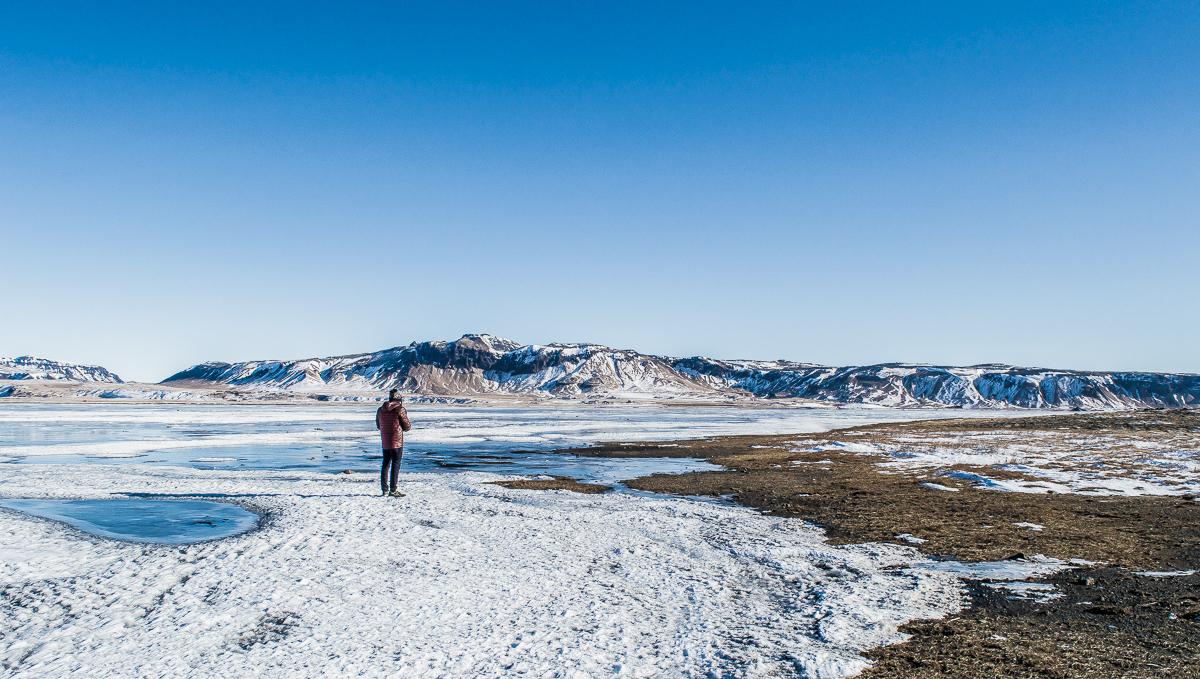 marcher sur la glace