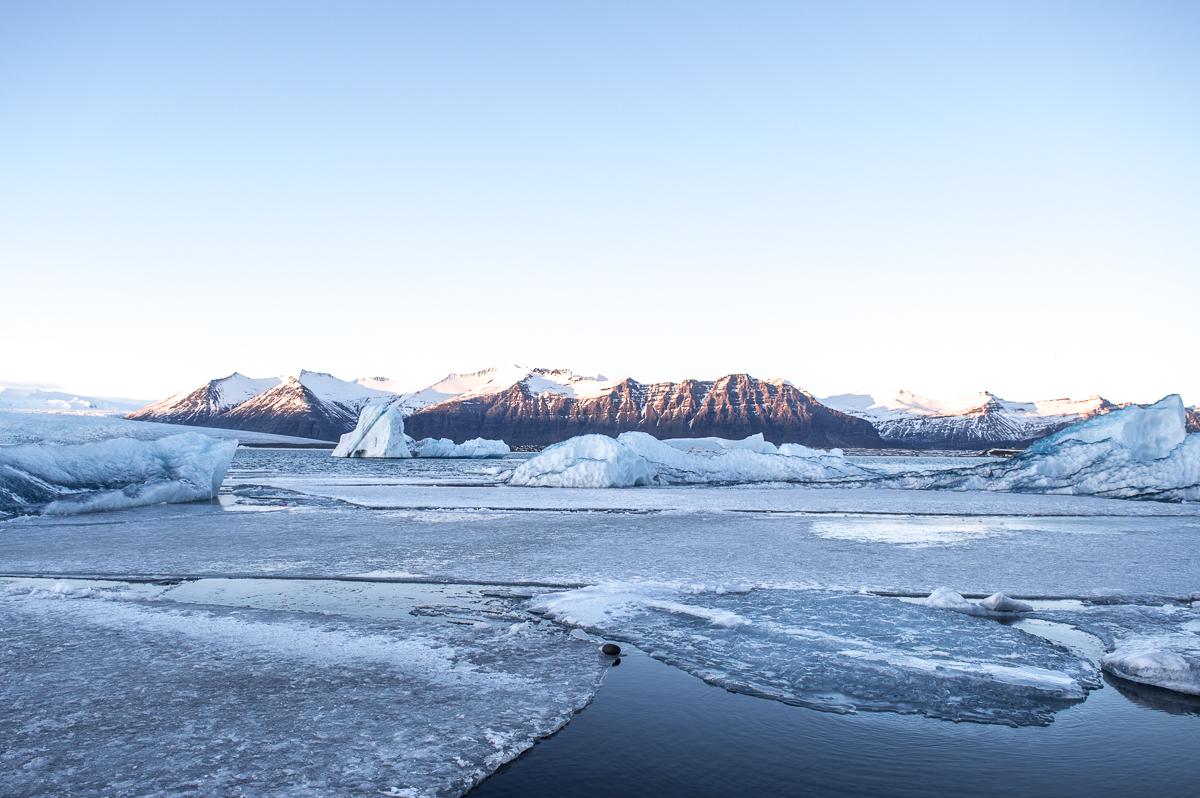 iceberg sur le lagon jokulsarlon
