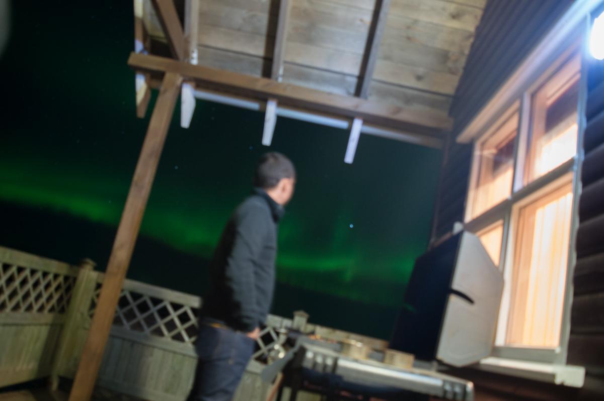 barbecue sous le aurores boreales