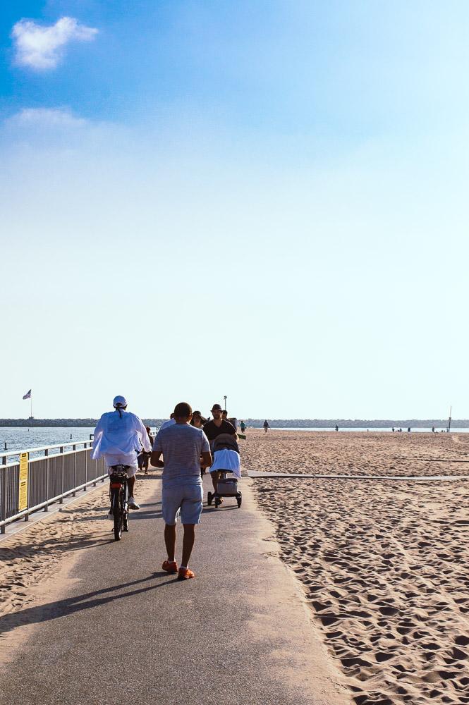 plage à marina Del rey