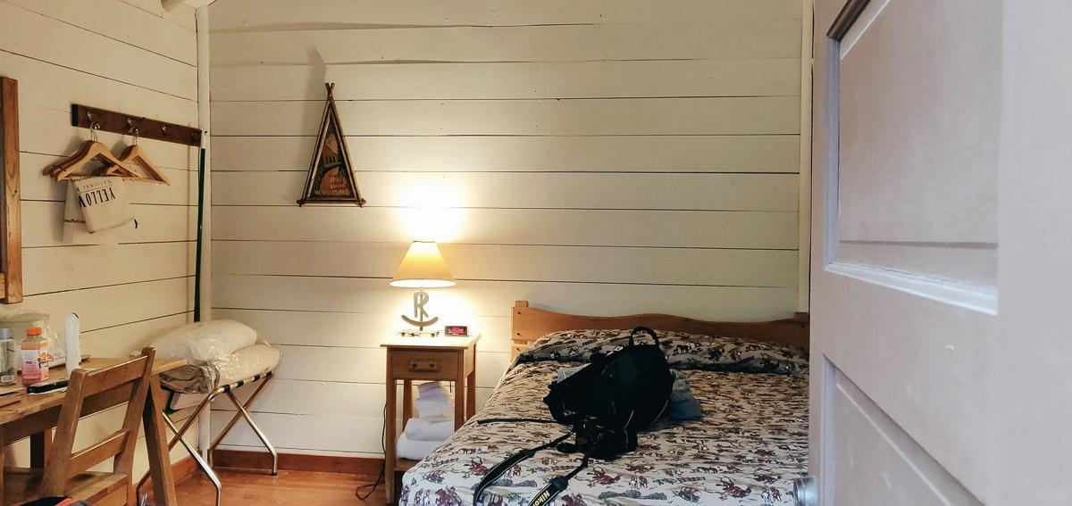intérieur de la frontier cabin au Roosevelt lodge