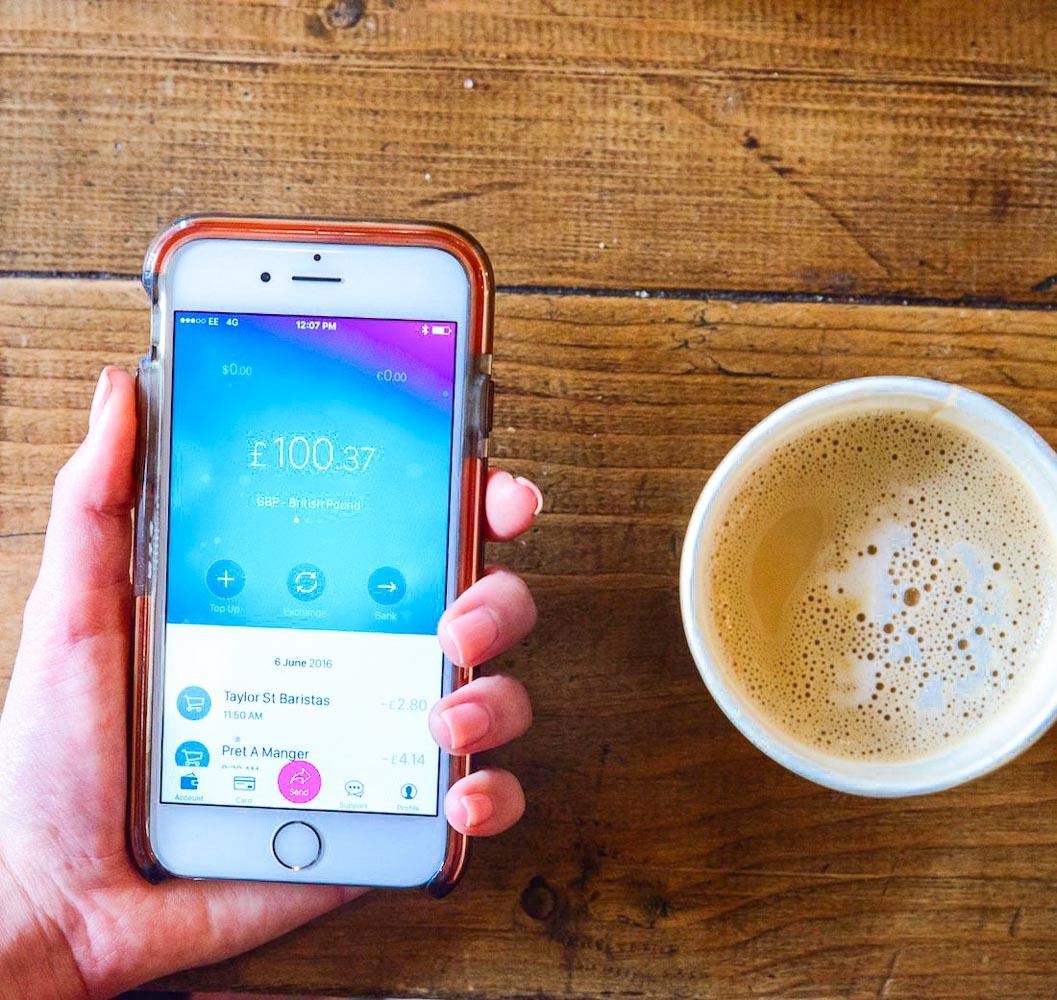 application Revolut sur smartphone