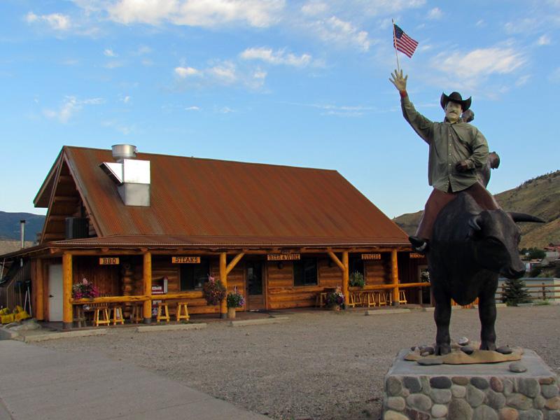 restaurant de cowboy typique du montana à gardiner