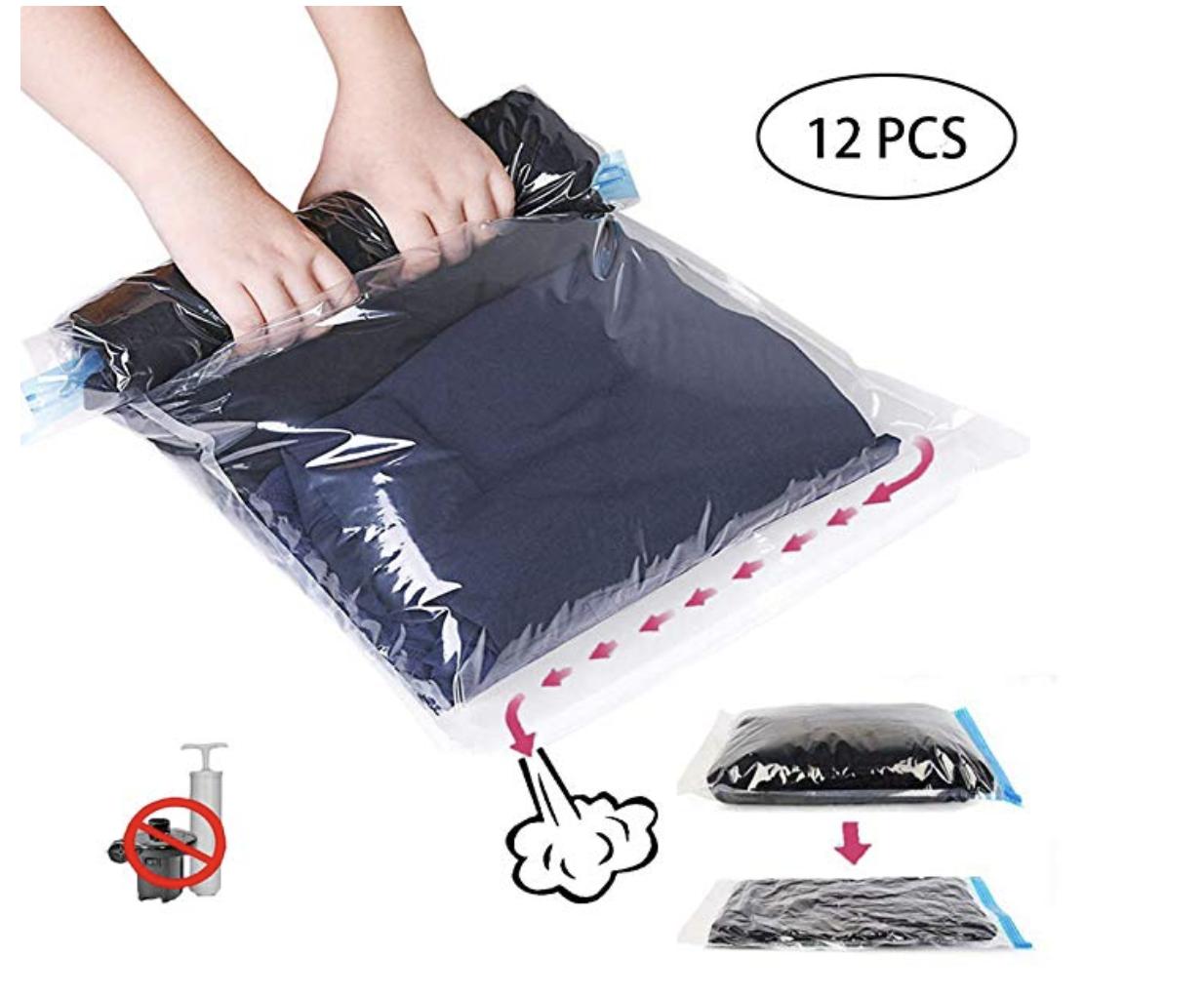 pochette pour ranger ses vêtements sous vide sans aspirateur