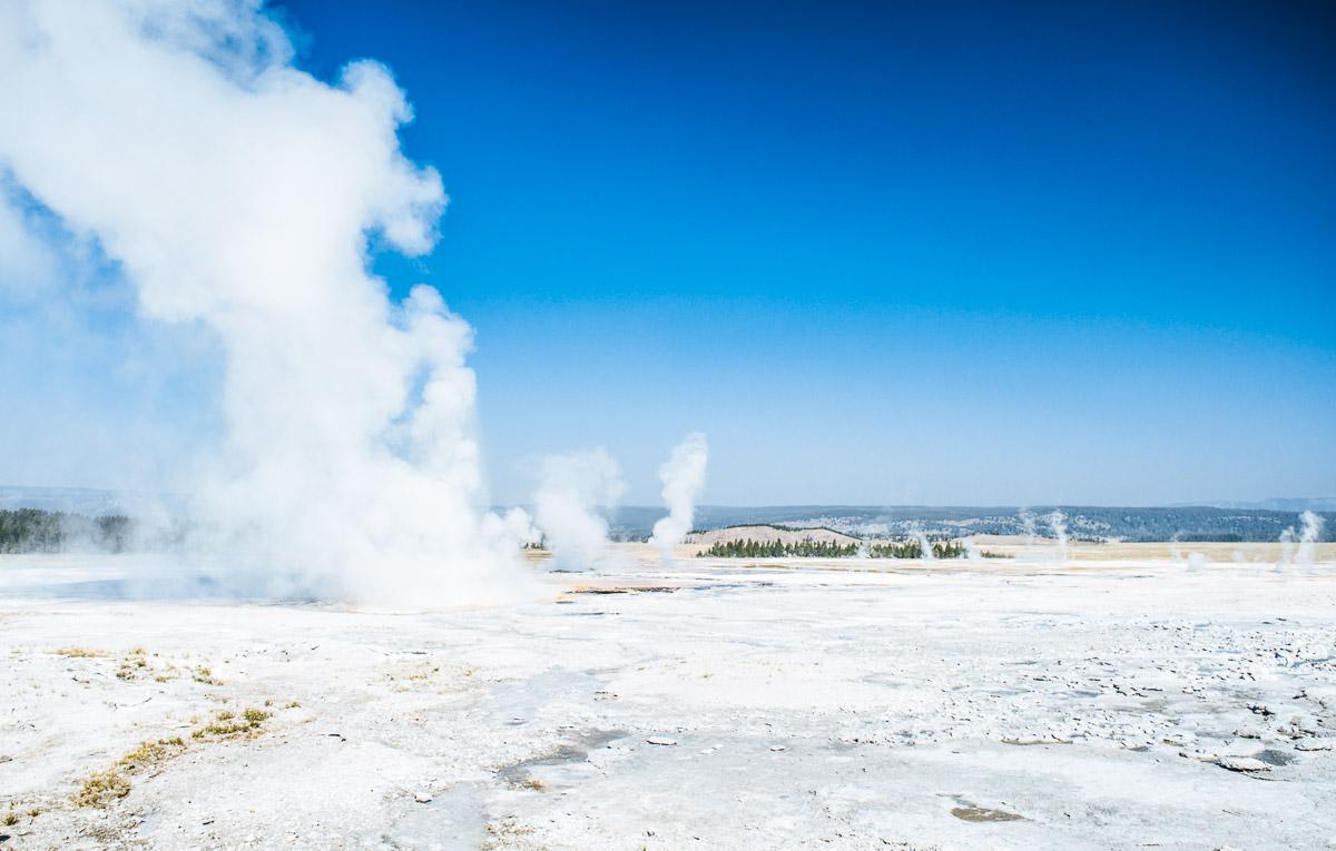 upper geyser basin à yellowstone