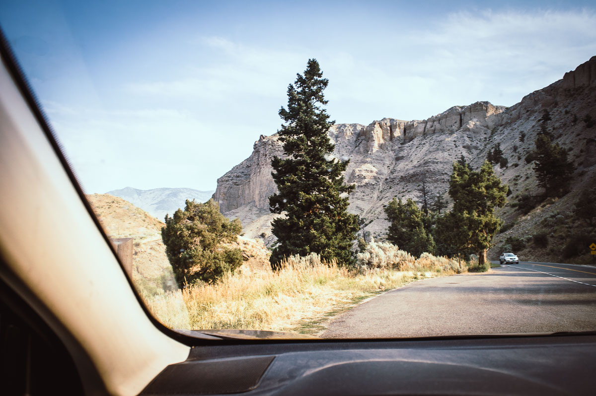 route vers Gardiner à yellowstone