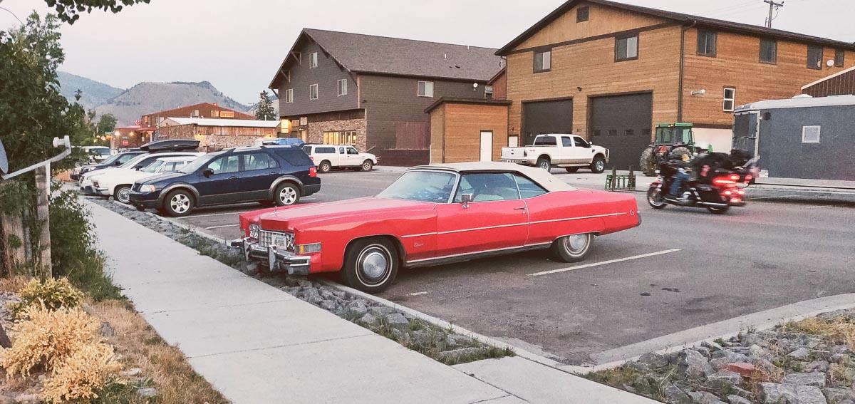 voitures anciennes dans le Montana
