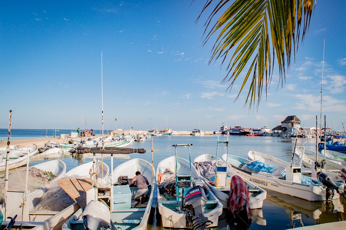 bateaux sur le port de Chiquita
