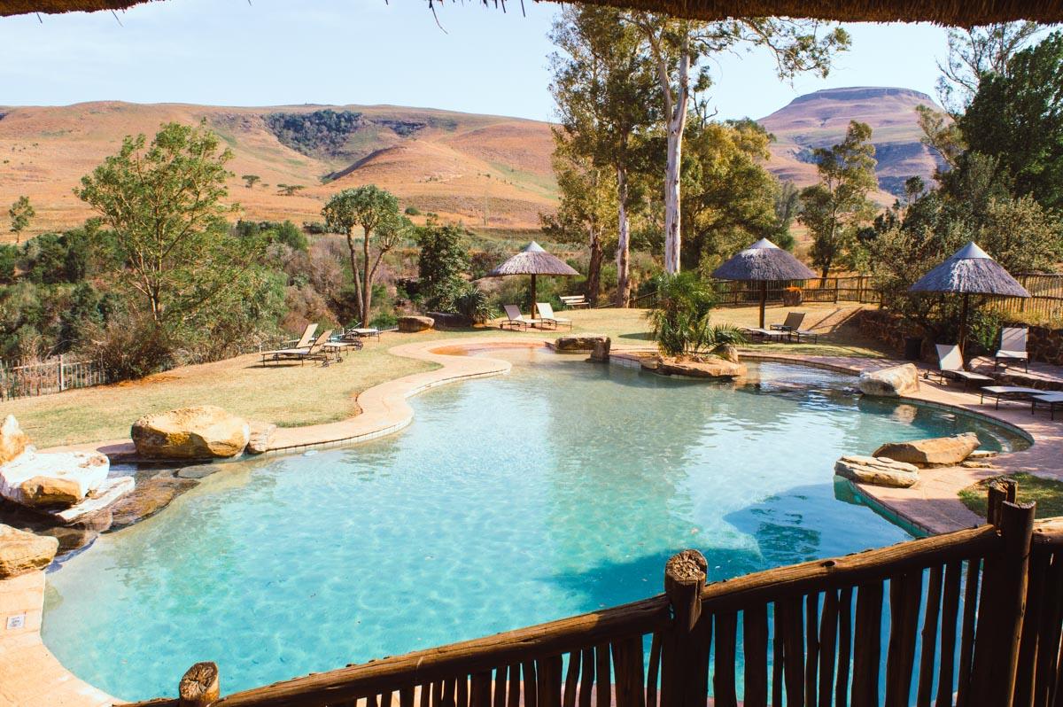 hôtel avec piscine dans le Drakensberg