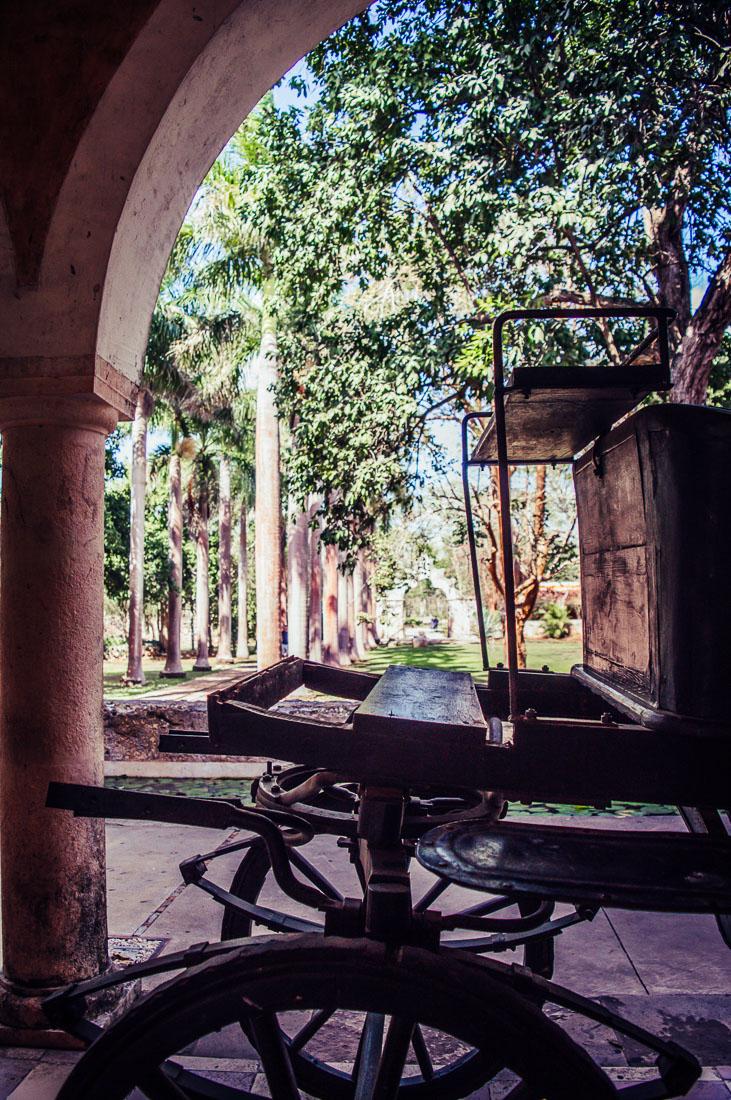 chariot en bois hacienda