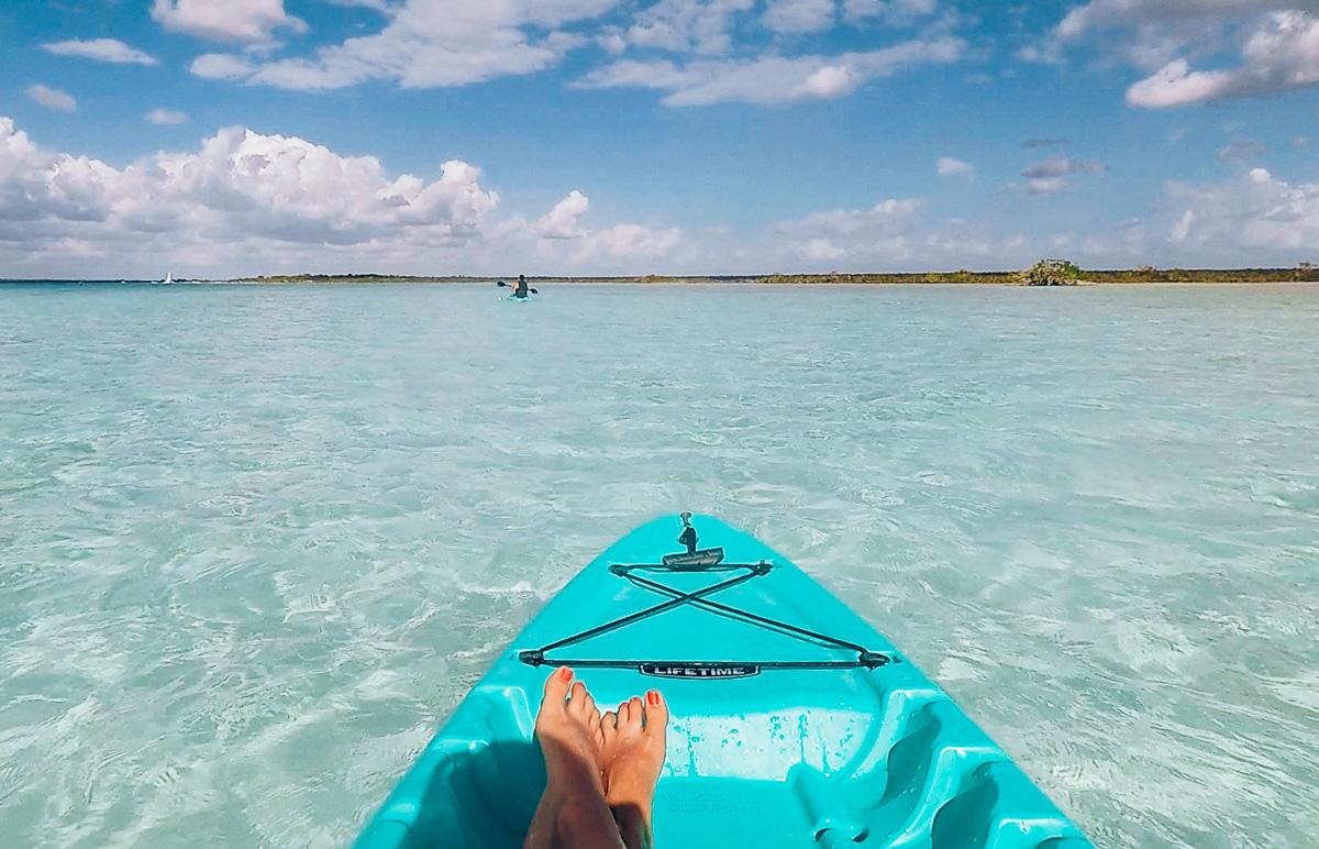 Deux jours à Bacalar kayak sur la lagune de bacalar