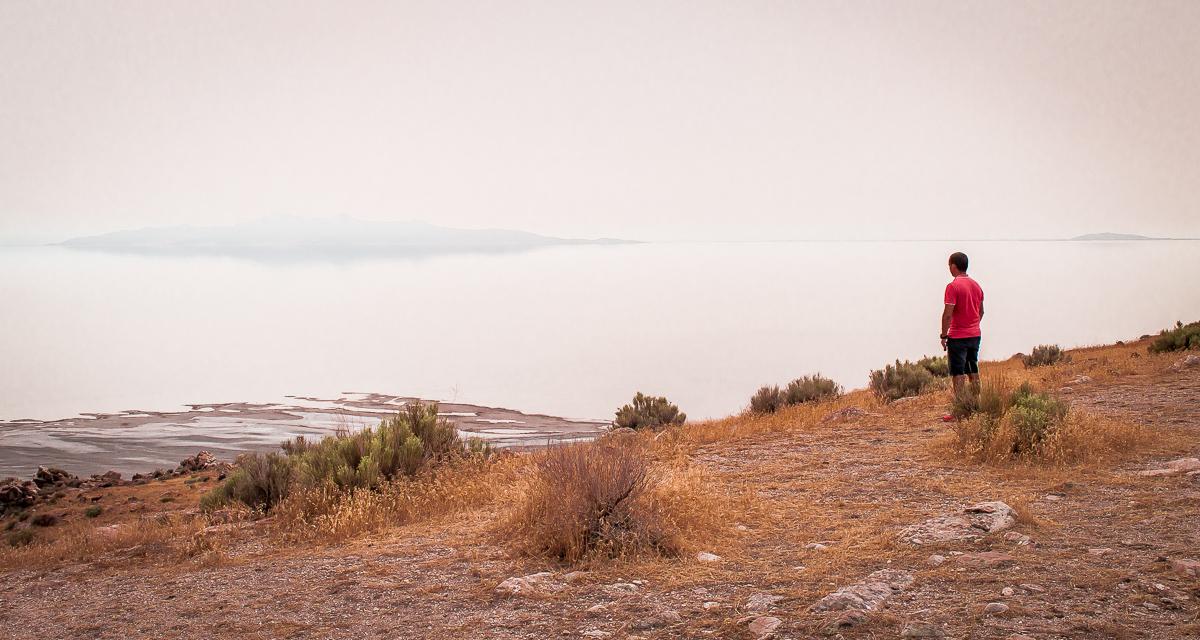 lac salé à antelope island