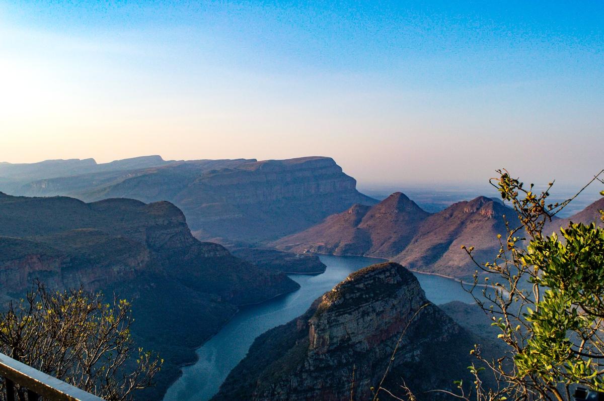blyde river canyon au coucher du soleil