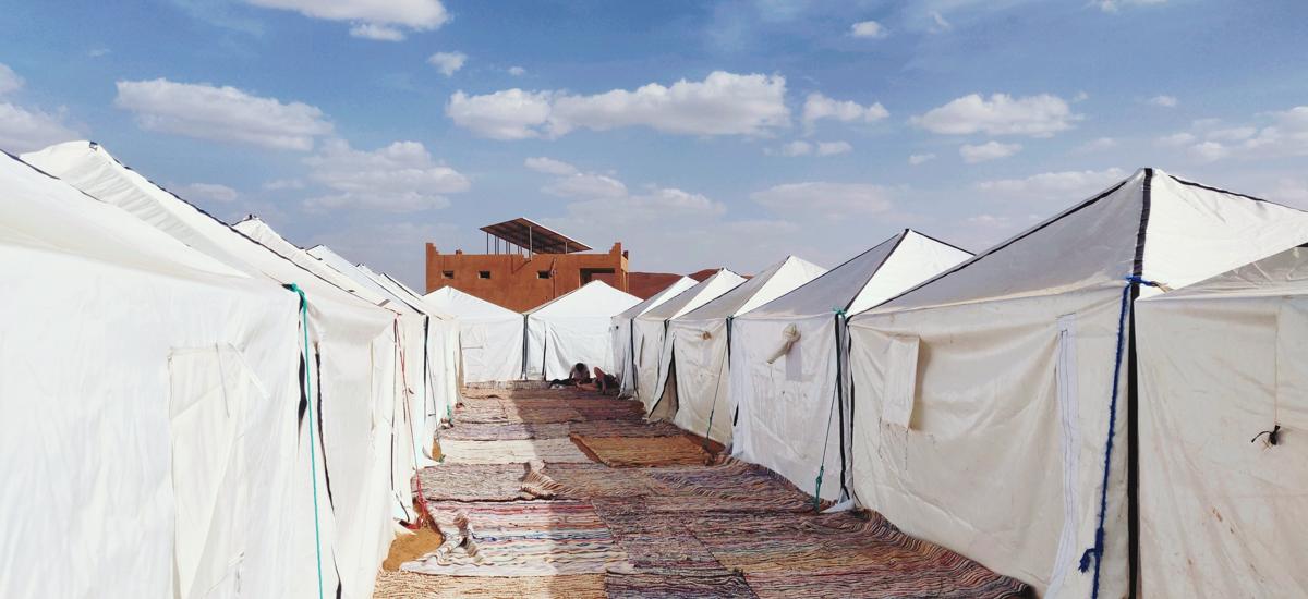 tentes berbères sur le bivouac