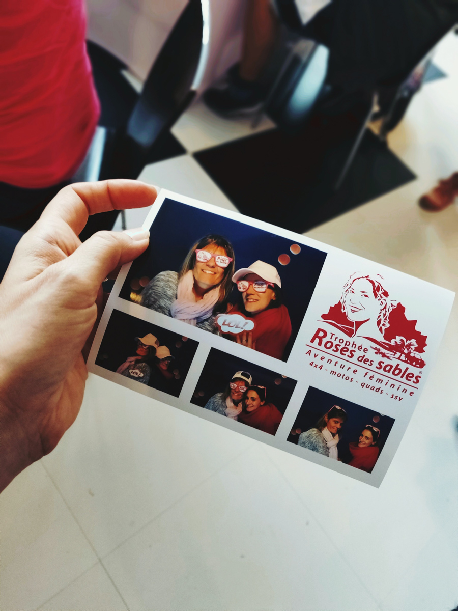 stand Photo Booth au village depart TRS