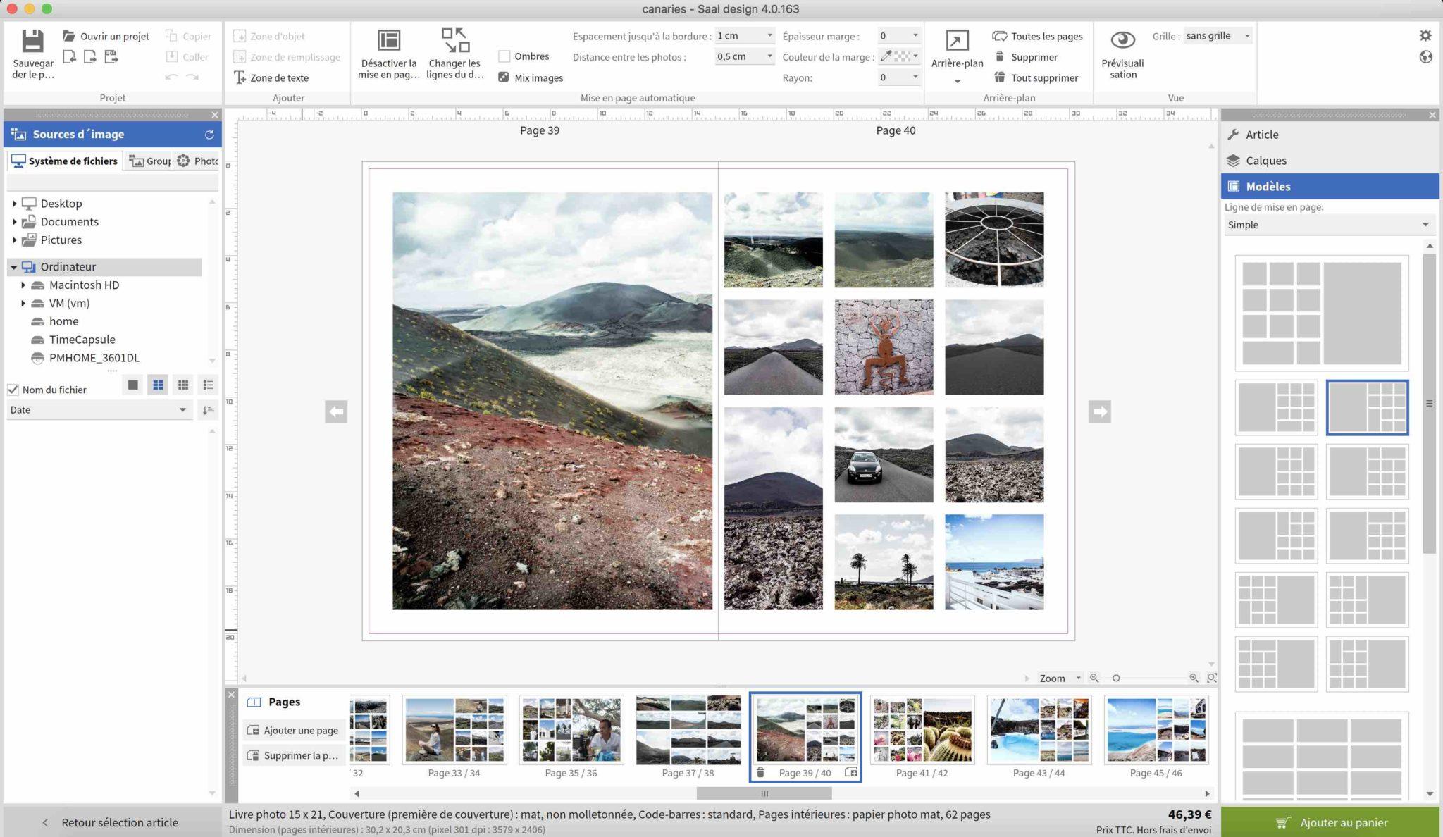 interface de création Saal Digital