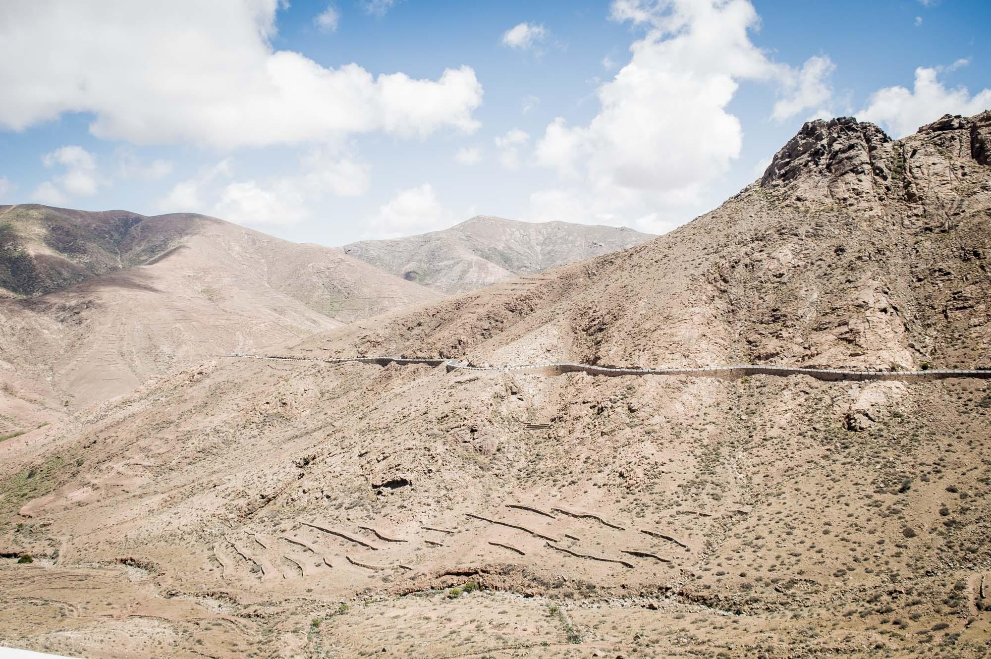 route panoramique dans le parc national de Betancuria