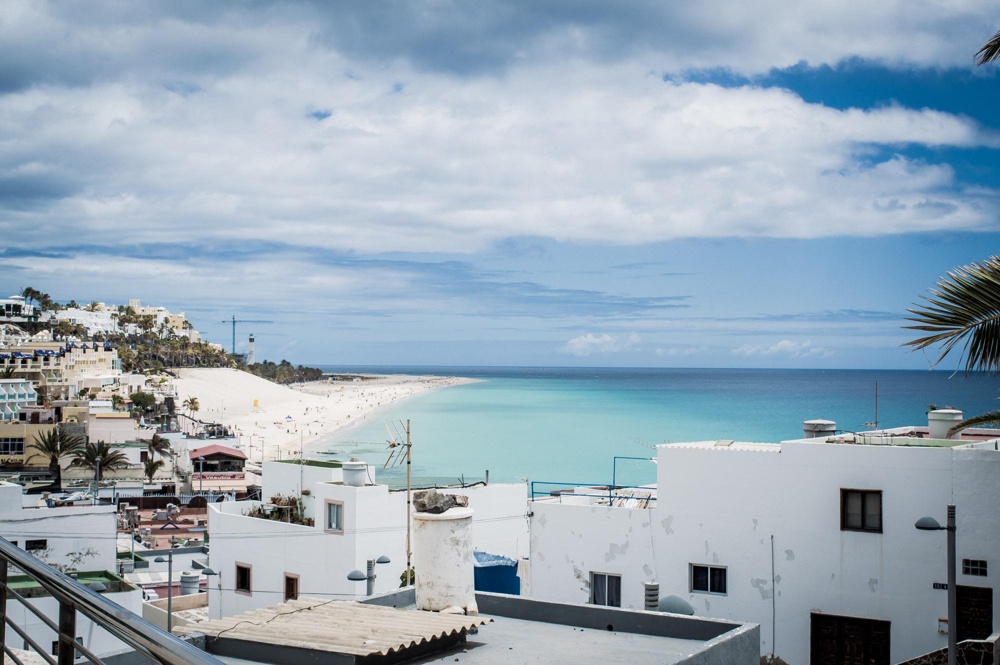 mer turquoise à Morro Jable