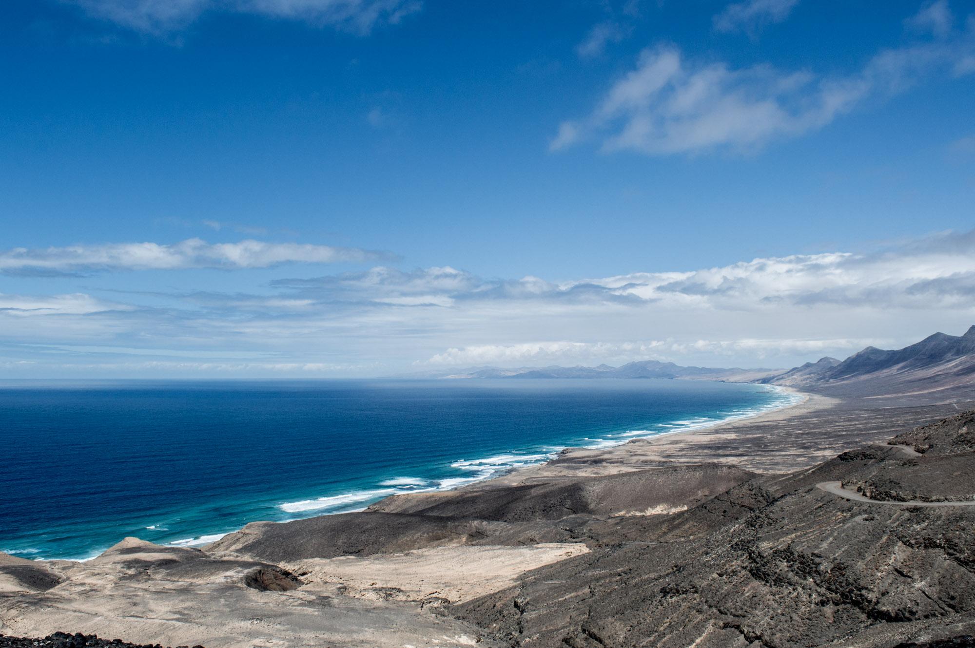 vue panoramique sur la plage de cofete