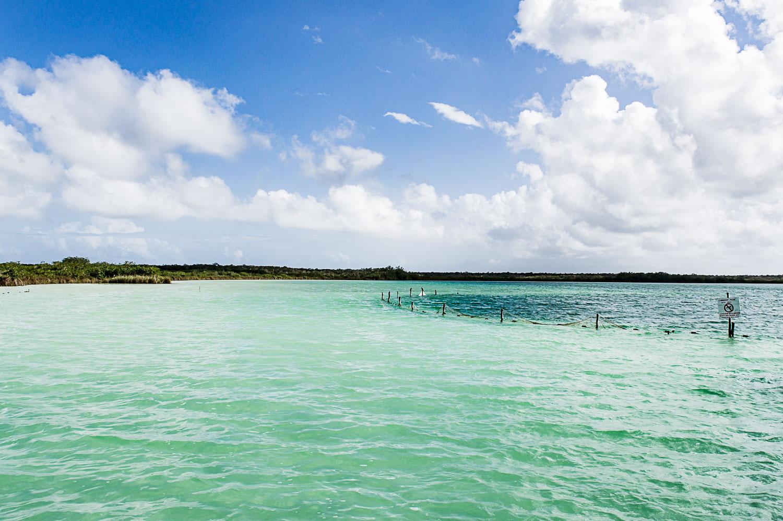 cénoté sous-marin à la laguna Kaan luum