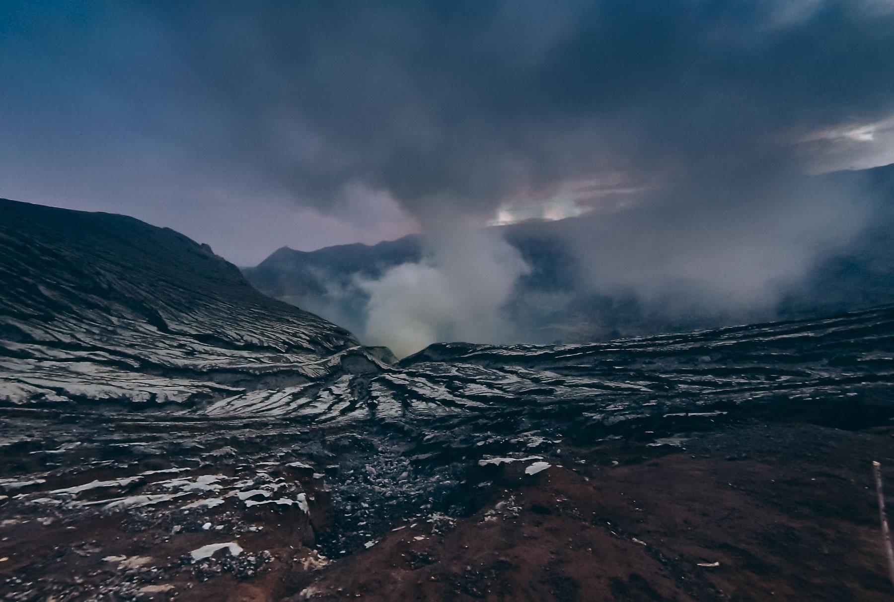 lever du soleil au volcan Kawah Ijen