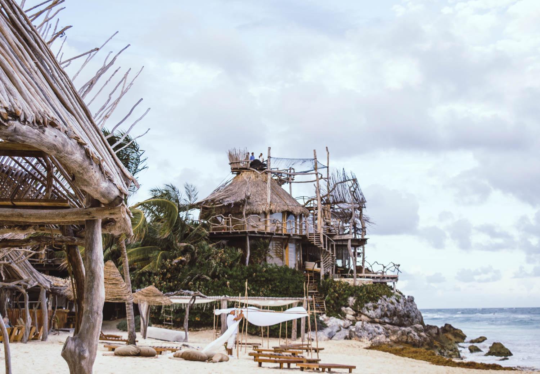 plage de l'hôtel Azulik à Tulum