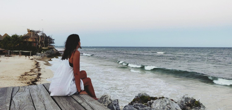 regarder l'océan à tulum