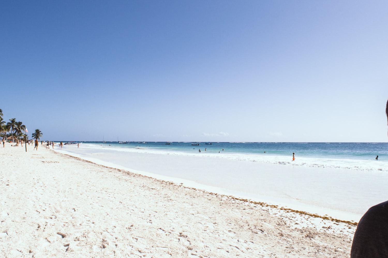 se baigner sur la plage de tulum
