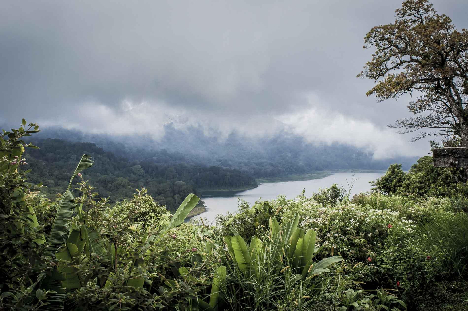 route panoramique à voir vers munduk au centre de Bali