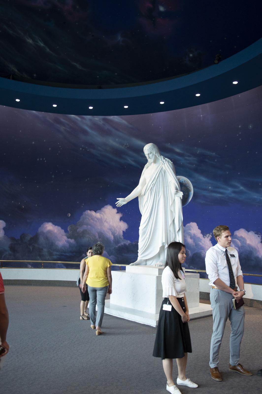 statue de jesus à temple square